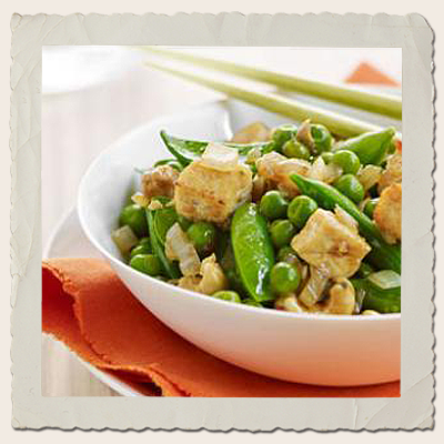 Tofu, Cashew Nut & 3 Pea Stirfry
