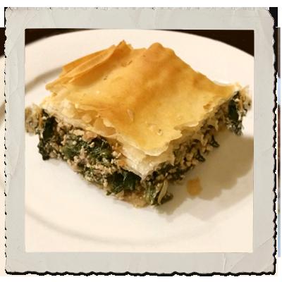 Spinach & Tofu Spanakopita