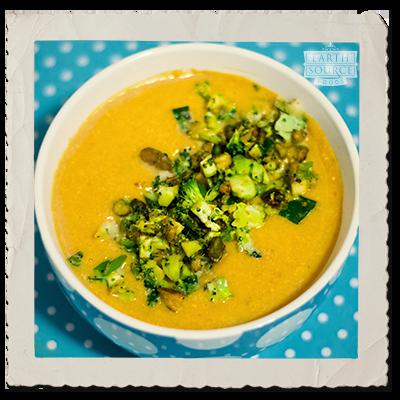 Creamy Pumpkin & Tofu Soup