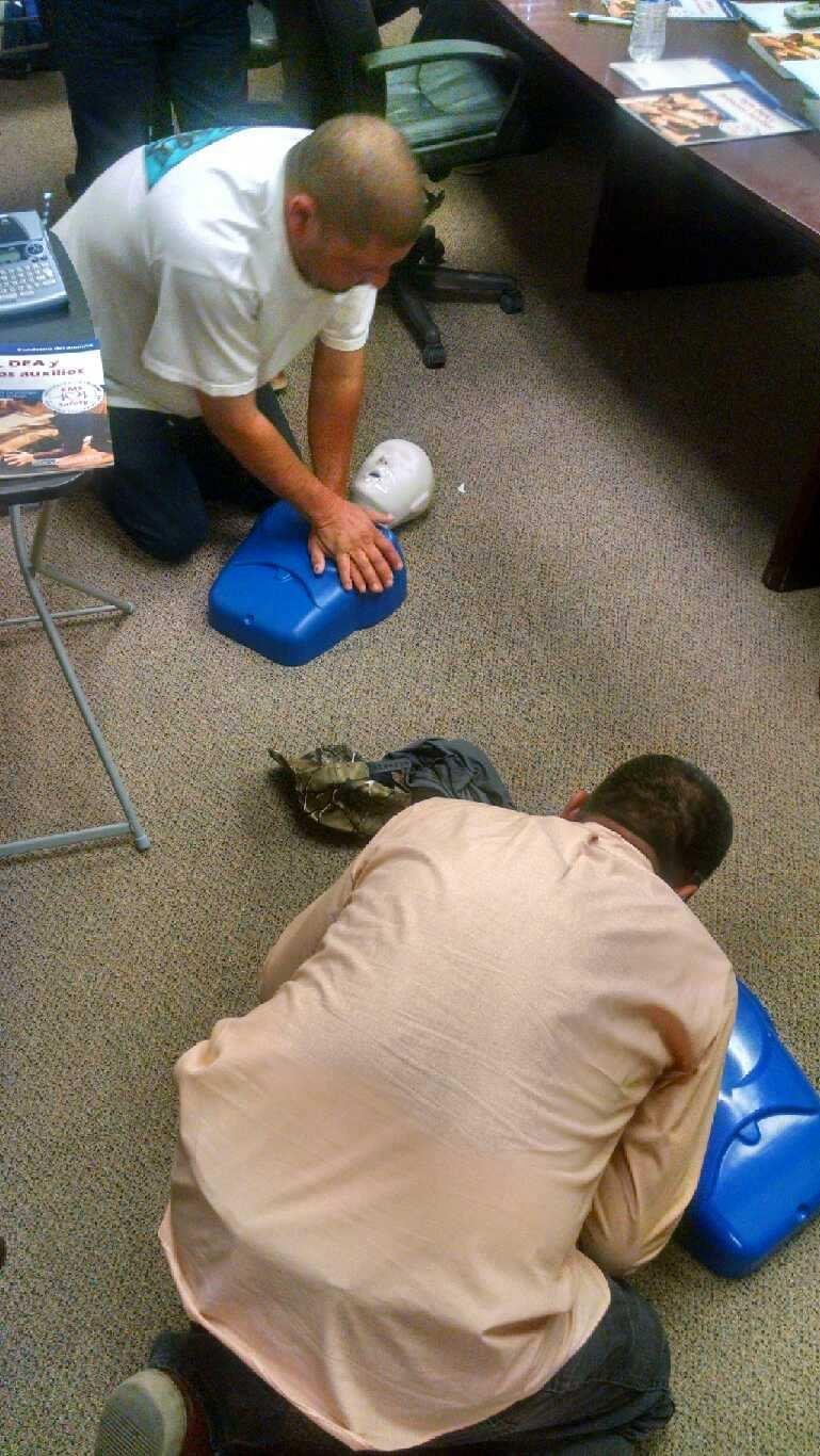 Supervisors receive CPR training.