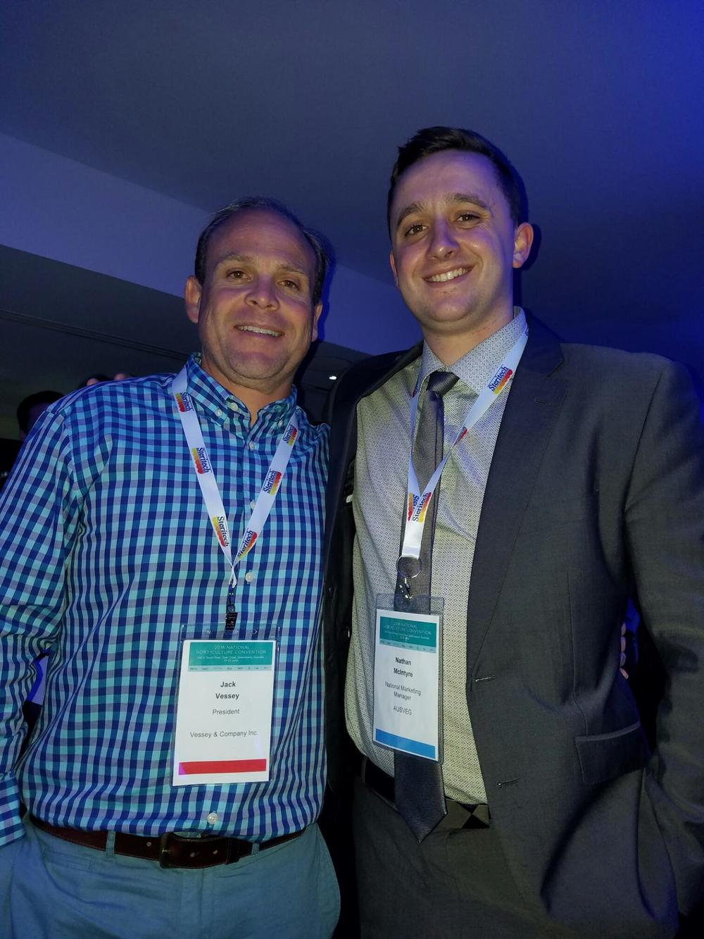 Jack with Nathan McIntyre, National Marketing Manager, AUSVEG