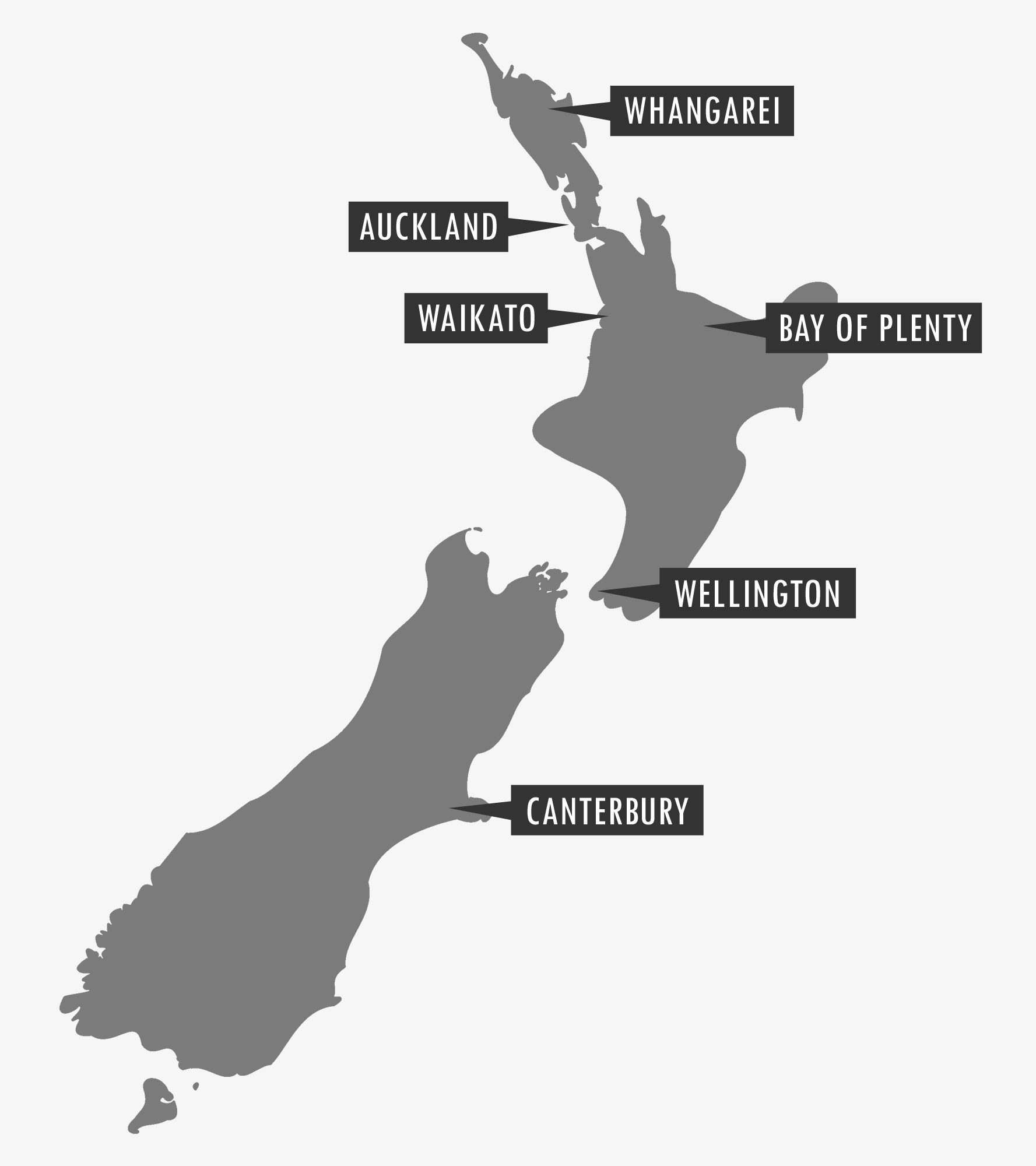 Trade Me Jobs New Zealand Labour Hire - New zealand map png