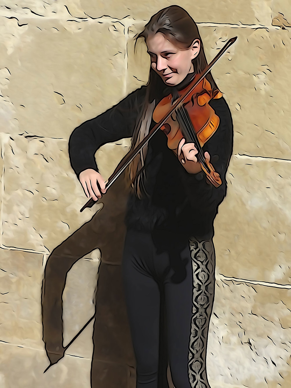 Creative Bohemian Playing Violin - Female Engaged In What She Loves To Do