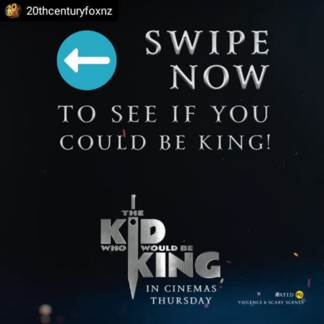 Putting all that gaming experience to good use! 🎮 Check out this mini #InstagramGame I created to promote the new film, #TheKidWhoWouldBeKing!  #repost #workstories #lovemyjob @20thcenturyfoxnz ・・・ Born to be royalty? Complete our three heroic quests to see if you've got what it takes! 👑🗡 The Kid Who Would Be King. In cinemas This Thursday!