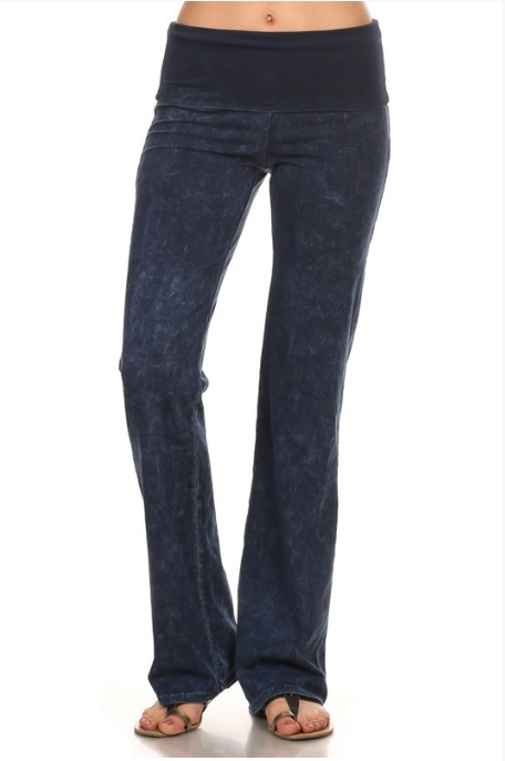denim blue yoga pants mineral washed perfect fit