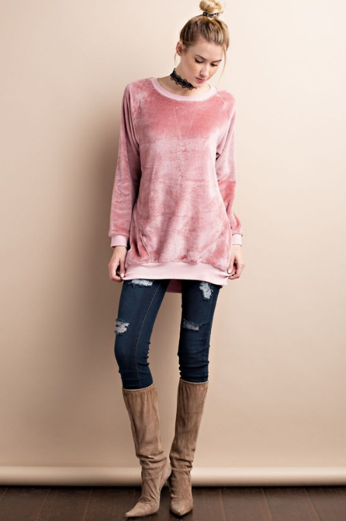 Dusty Rose oversized top. So comfortabel, soft and warm!