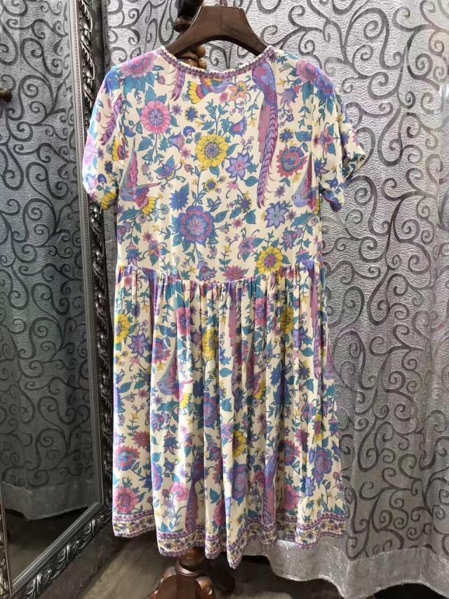 95206b03cdb1 summer dress Cotton floral lovebird print V-neck mini casual dress women  Bohemian hippie chic — MoonShine Clothing