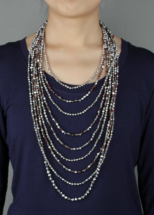 Quality Full Handmade Multi Layers Crystal Necklace Multi Strands  Rhinestones Bead Necklace — MoonShine Clothing 066b05013eb2