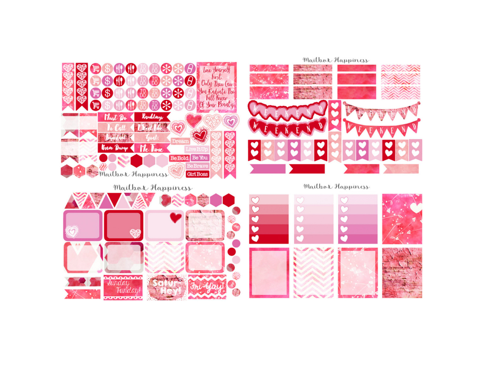 Valentine's Day sticker set by Mailbox Happiness