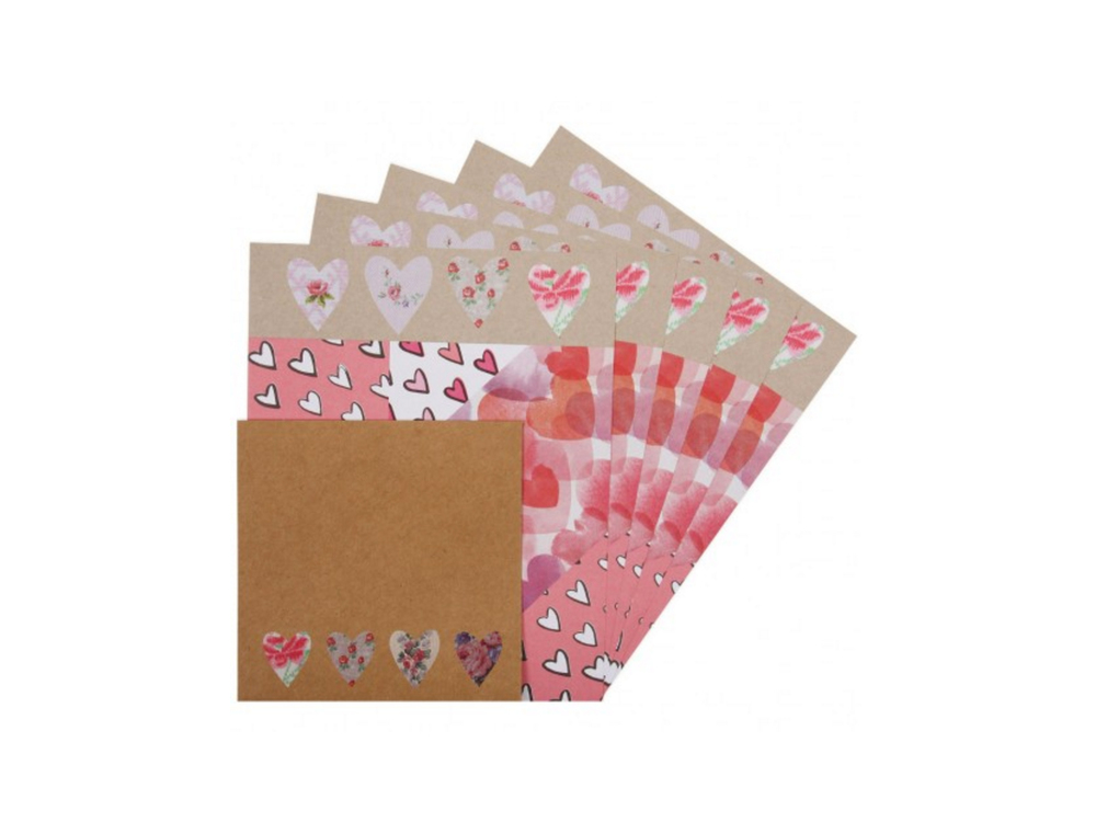 Origami hearts writing set by Paperchase