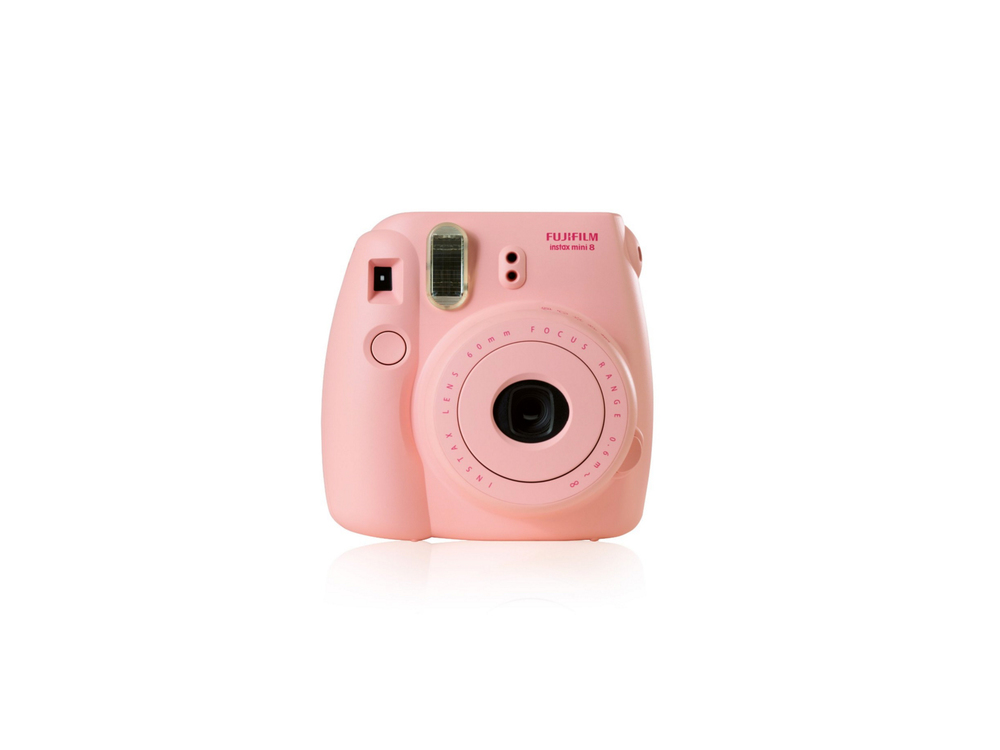 Pink Fujifilm Instax Mini 8 instant camera by Fujifilm