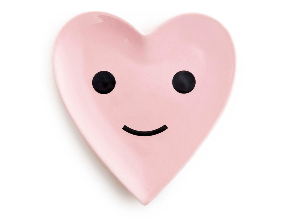Herbie the Happy Heart porcelain dish by ban.do