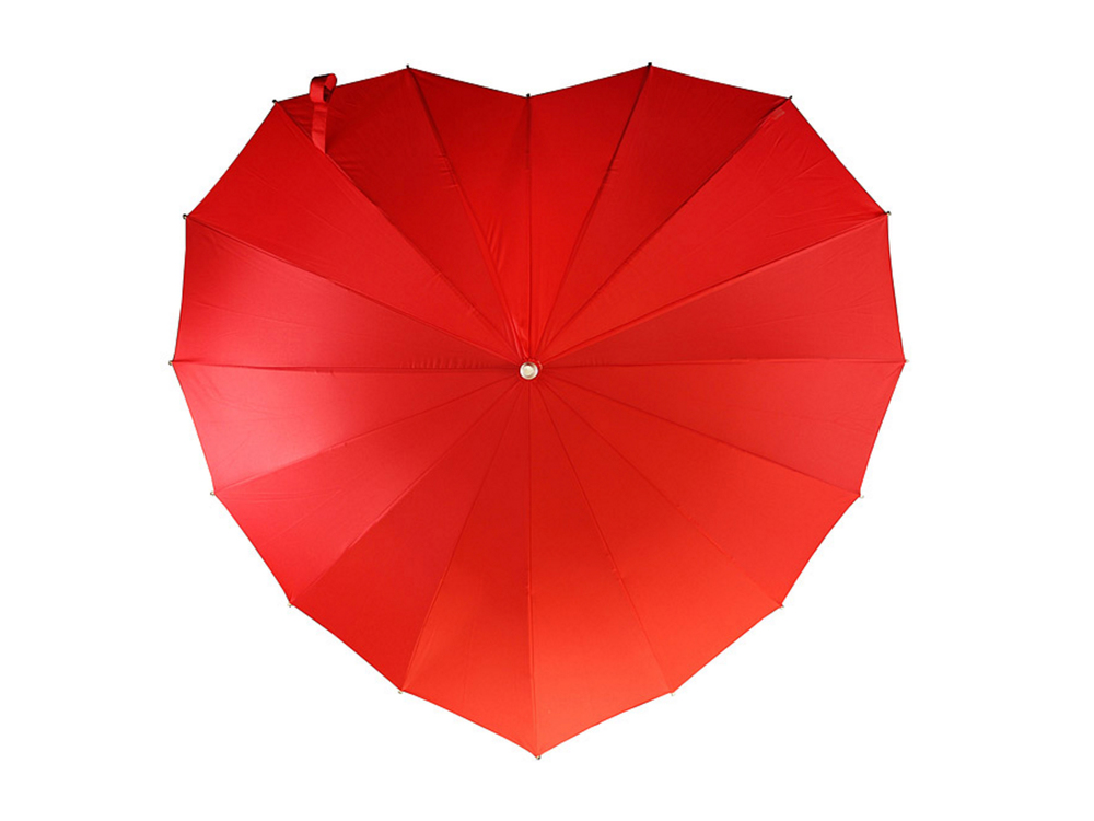 Crimson heart umbrella from Uncommon Goods