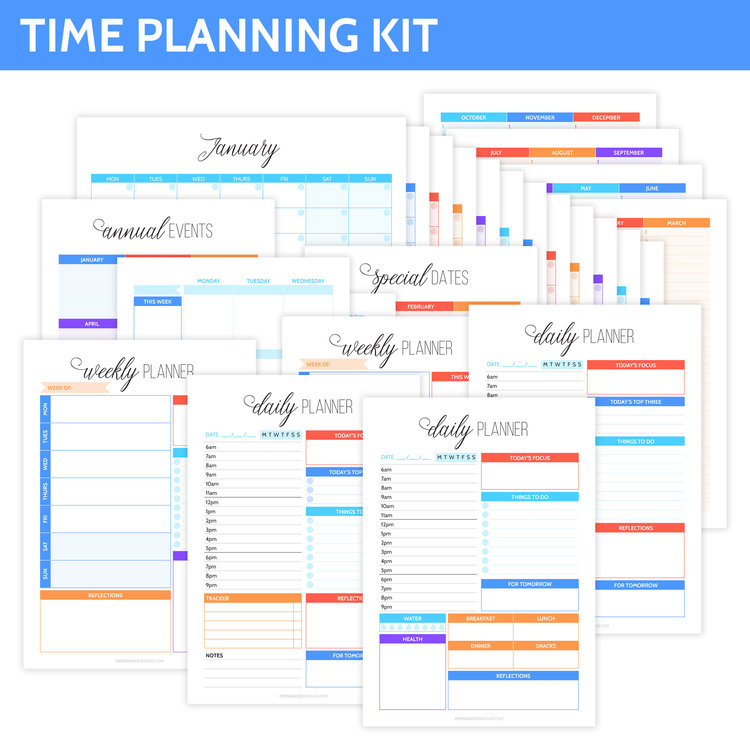 time planning kit alicia grace co