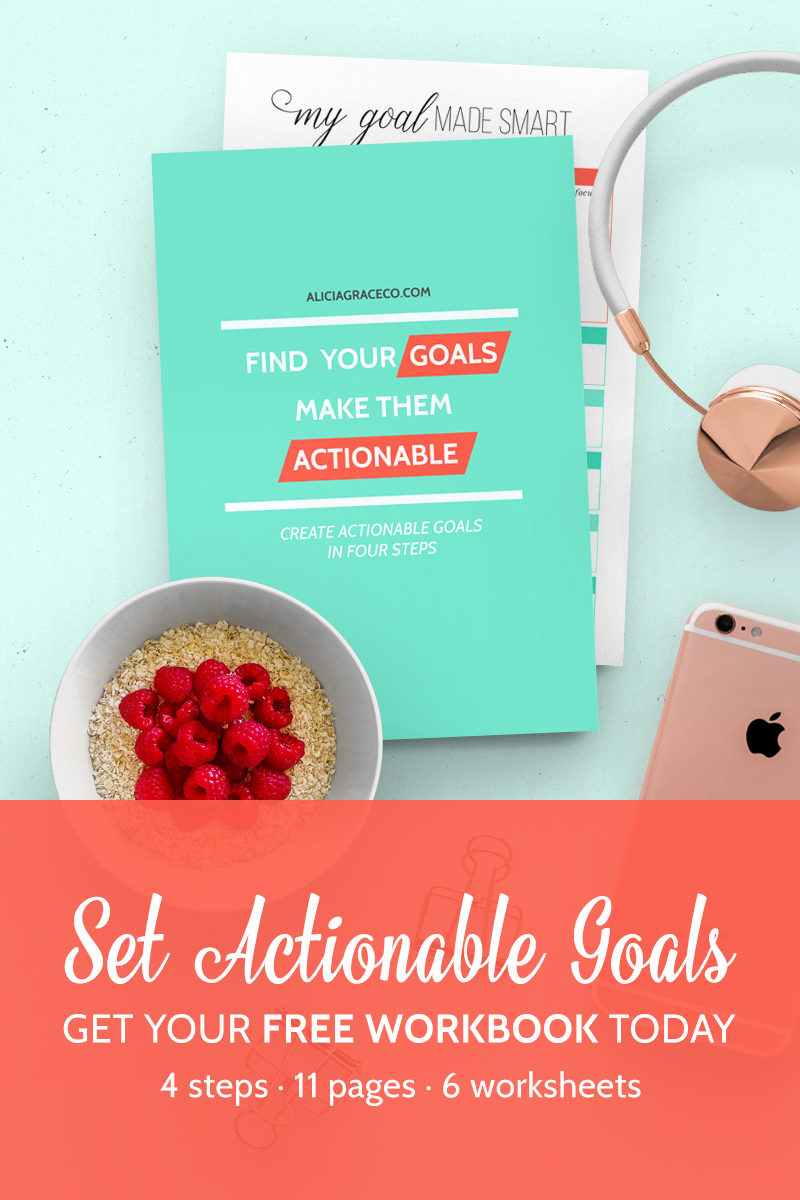 Set Actionable Goals - free workbook
