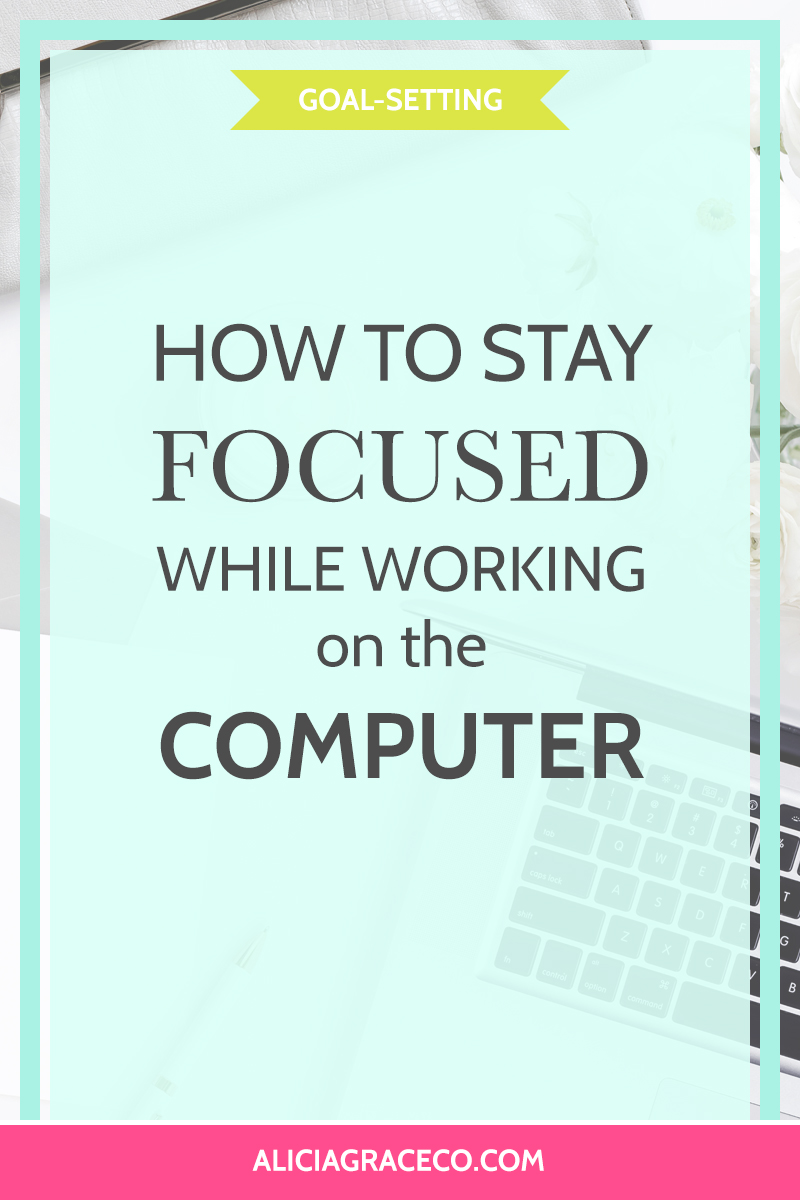 Learn how to stay focus when you're working on the computer.