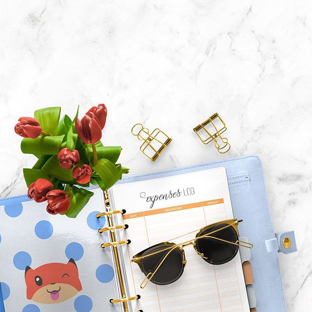 Do you keep track of your expenses? . I love this fun expenses log. 😊 . #AliciaGraceCo #GoalGetterCommunity
