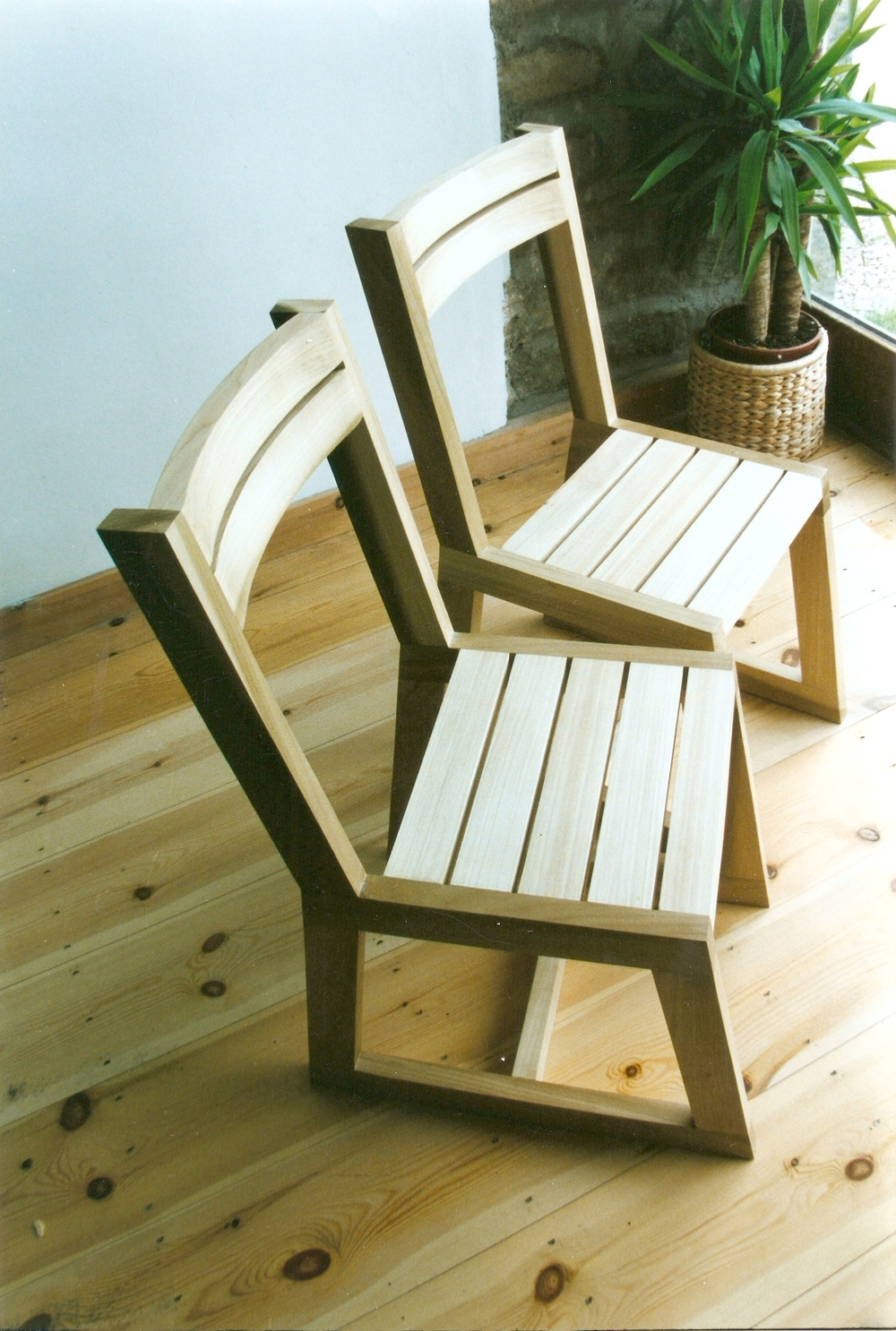 Tulip Wood Chairs