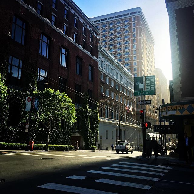 The light in the morning here cuts through the streets and it makes everything look epic. #sanfrancisco