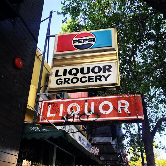 So much colourful signage in this city. #sanfrancisco #liqour #pepsi #liquorgrocery