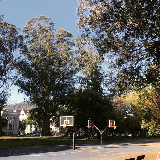 Played a unplanned game of 4v4 basketball with the locals here this morning. #goldenstatepark