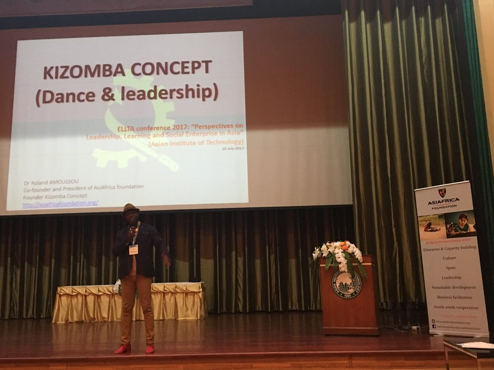 Dr. Roland Amoussou, Co-founder and President of Asiafrica Foundation, Founder of Kizomba Concept and member of the UNESCO DANCE COUNCIL – CID.