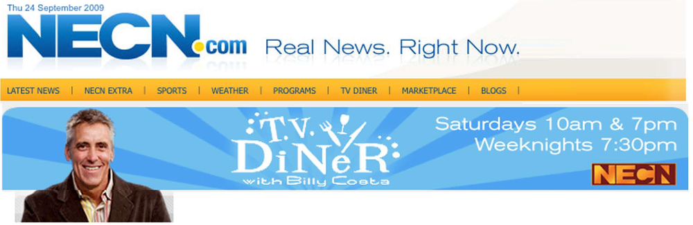 NECN,  T.V. Diner, Billy Costas, Mark Gaier, Clark Frasier, Blueberries,