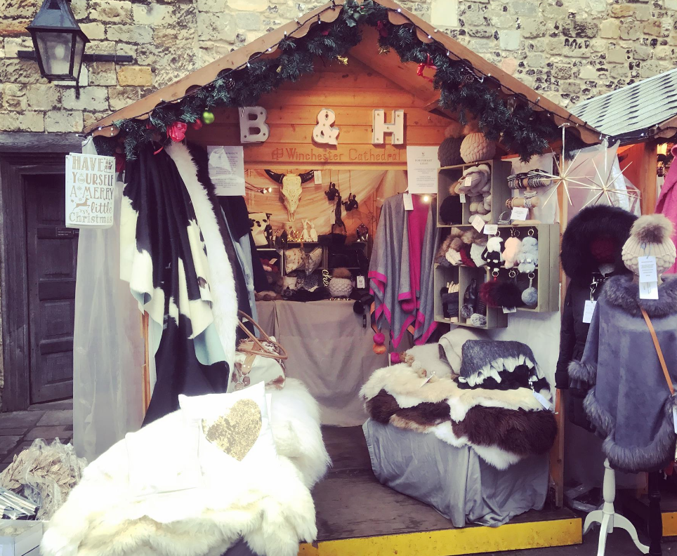 Burrow & Hide at Winchester Christmas Market