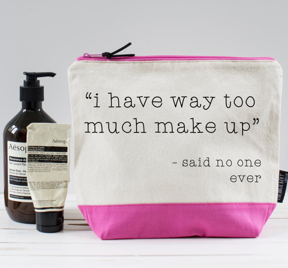 Make Up Bag by Burrow & Hide