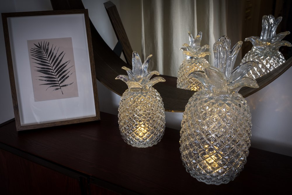 LED Pineapple Decorations by Burrow & Hide