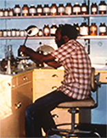 Melles Seyoum,Orotta caves laboratory – 1980's