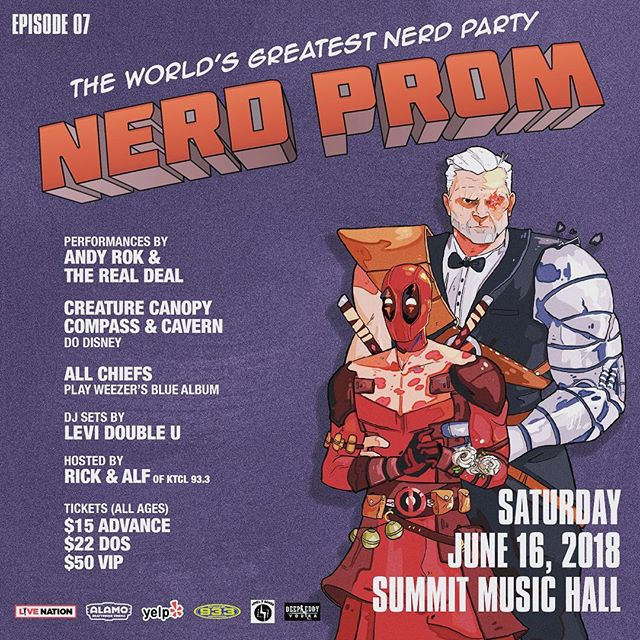 Were getting the band back together for #nerdprom2018! Get your tickets now! #nerdsjustwannahavefun