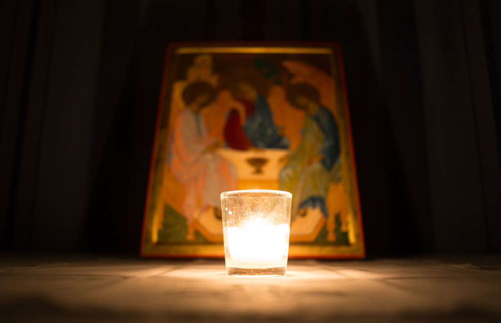 sat. night compline at st paul's - Compline is a very ancient and very simple, short sung service which ends the day (or, in ancient understanding, begins the new day that arrives with sunset) in a restful stillness. It is sung in the darkness by candlelight each Saturday evening at 9 p.m. Compline is about 15 or 20 minutes long. If anyone wishes to stay behind after and take in the silence, they're welcome.