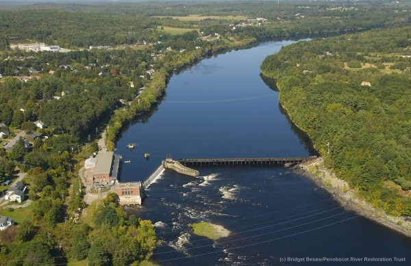 Removal of Veazie Dam on Penobscot River, Maine, by Penobscot River Restoration Trust.
