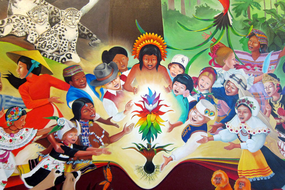 In Peace & Harmony mural addressing environmental issues, by Leo Tanguma