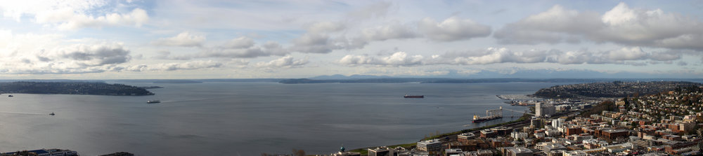 The Puget Sound from the Space Needle in Seattle, WA.