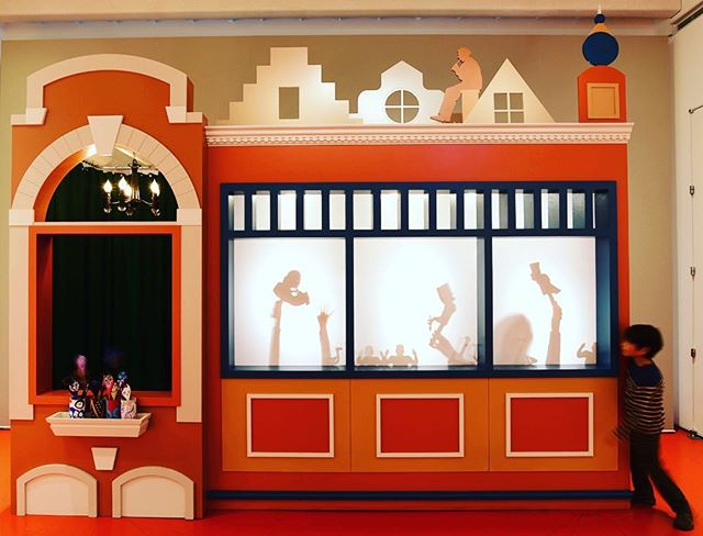 Puppets!  Our work at Art Institute of Chicago that explored the work of James Ensor.  Puppet theater is inspired by Ensor's home town of Ostend Belgium.⠀ ⠀ #artinstituteofchicago #jamesensor #spacehaus #shadowpuppets #chicagoexhibitions⠀