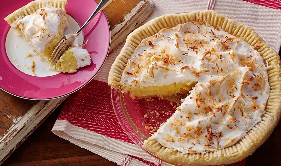 Coconut Cream Pie with Coconut Meringue