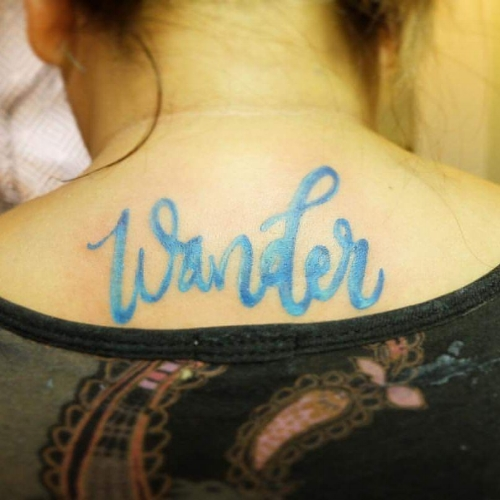 Wander/Wonder. Design by  Crae Achacoso , Tattoo by  Wiji Lacsamana
