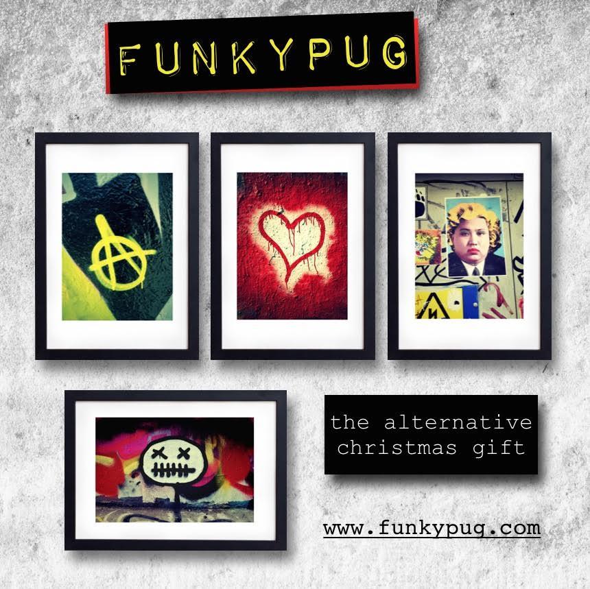 FunkyPug Christmas Gift Lewisham Card
