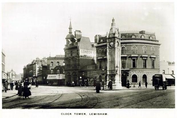 Lewisham Clocktower early 1900s. Photo: Postcards of the past