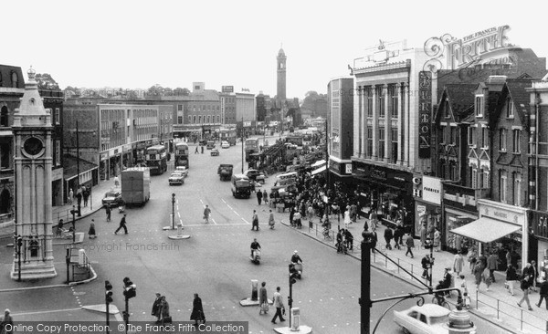 Lewisham Clocktower's original location. Photo: The Francis Frith Collection