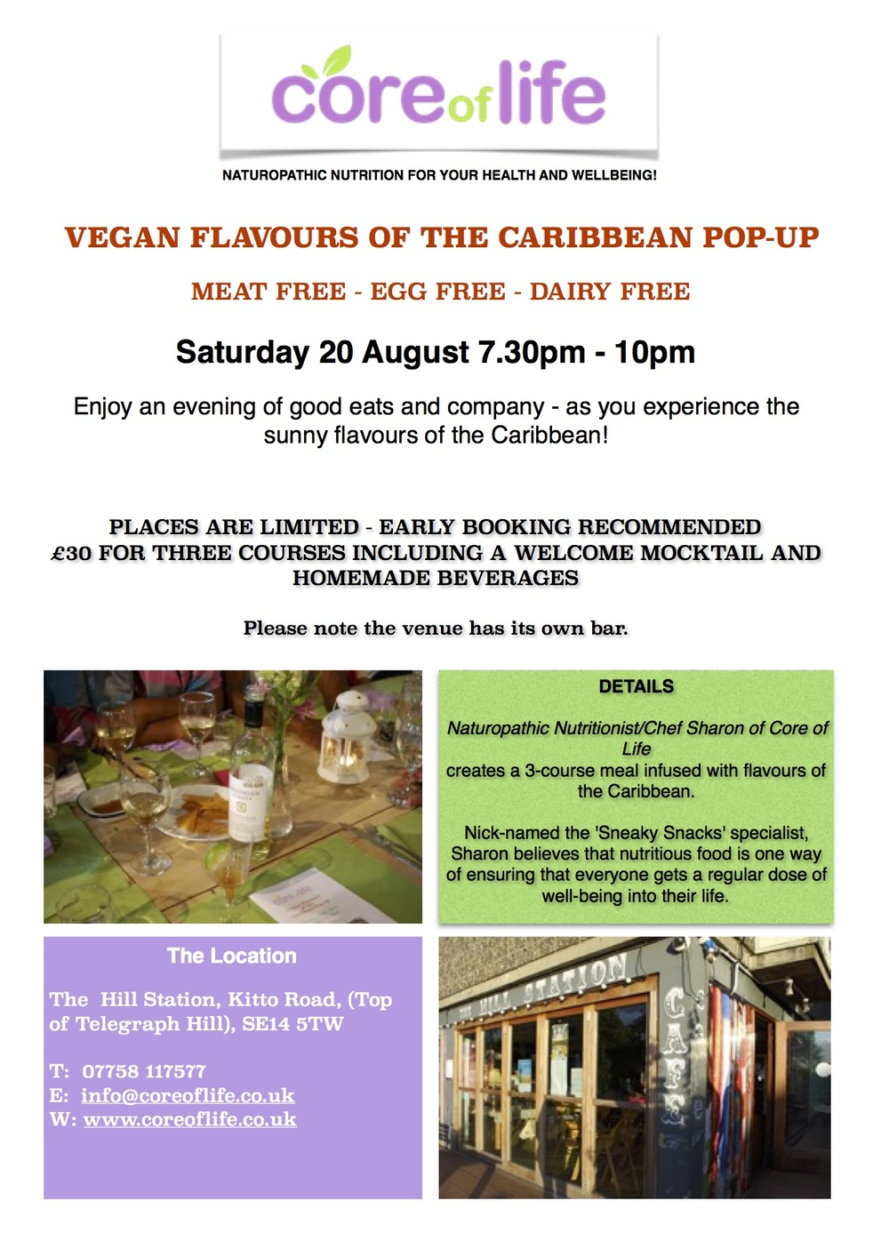 Vegan Flavours of the Caribbean Lewisham Card