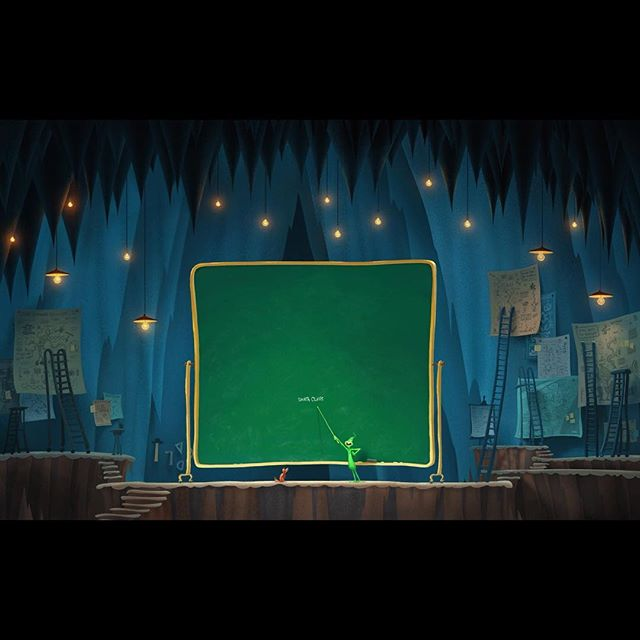 """The perfect plan! Concept painting for Grinch's """"situation room"""". ⠀⠀ #grinch #thegrinch #grinchmovie #thegrinchmovie #concept #conceptart #animation #photoshop #photoshopart #art #digitalart #dailyart #design #santa #dog #funny #instadaily #setdesign #cave"""