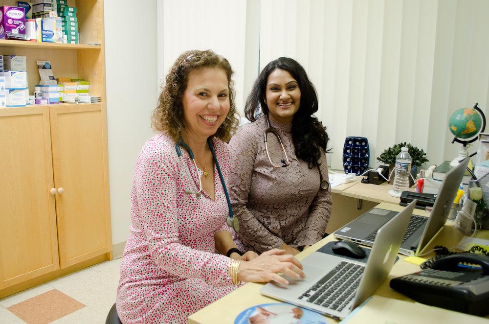Dr. Cernea and PA Nadisha Hosein