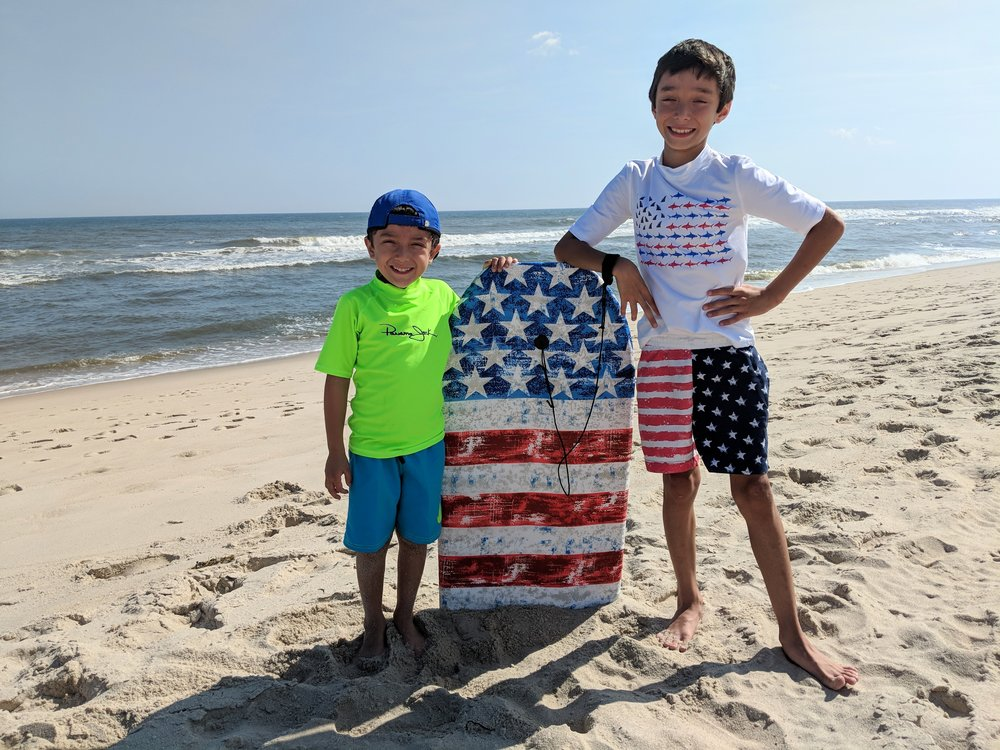 Wishing I could go back to enjoying Summer on the beach with my sons Nathan(5) and Benjamin(9).