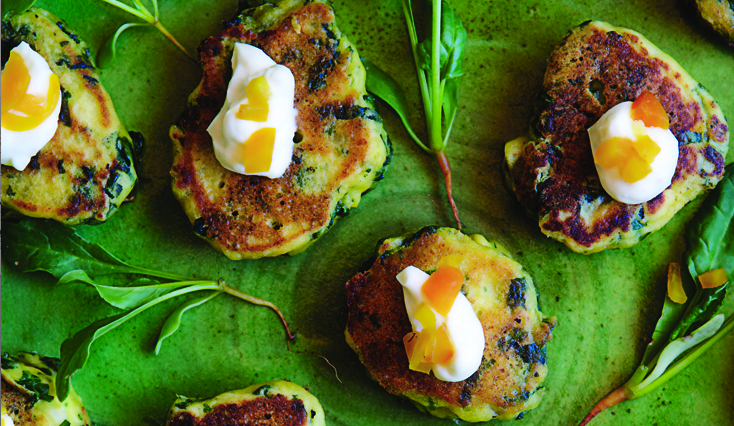 Veggie Cakes with Chard, Ricotta and Saffron