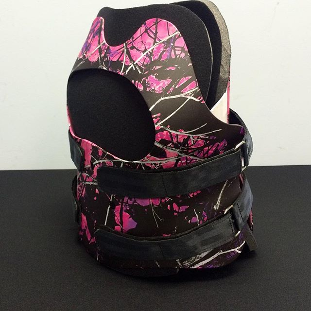Custom Made TLOC female TLSO with a Pink Camo design.