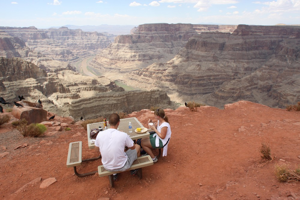 BBQ Lunch overlooking the Grand Canyon