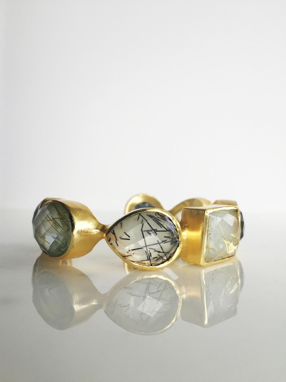 Ruitilated quartz + gold